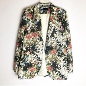 Cynthia Rowley Floral Printed Blazer Large